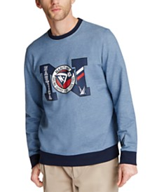 Nautica Men's Blue Sail Logo-Print French Terry Sweatshirt, Created for Macy's