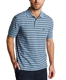 Men's Classic Fit Performance Striped Deck Polo