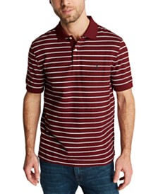 Nautica Men's Classic Fit Performance Striped Deck Polo