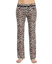 Betsey Johnson Lace-Trim Printed Pajama Pants