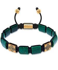 Nialaya The Dorje Flatbead Collection - Green African Jade and Gold