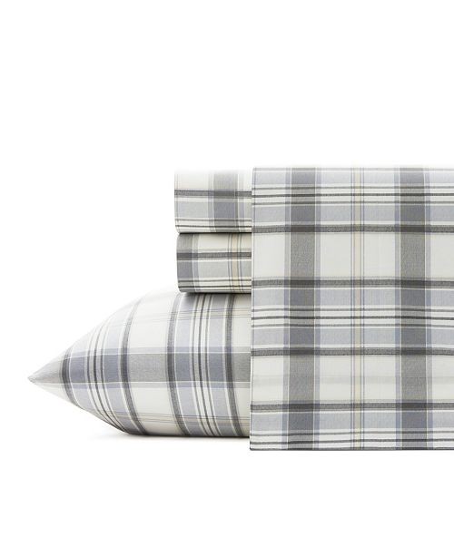 Eddie Bauer Chinook Plaid Sheet Set, Queen