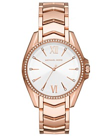 Women's Whitney Rose Gold-Tone Stainless Steel Bracelet Watch 38mm