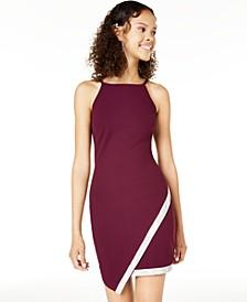 Juniors' Asymmetrical-Hem Rhinestone Dress