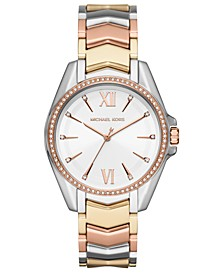 Women's Whitney Tri-Tone Stainless Steel Bracelet Watch 38mm