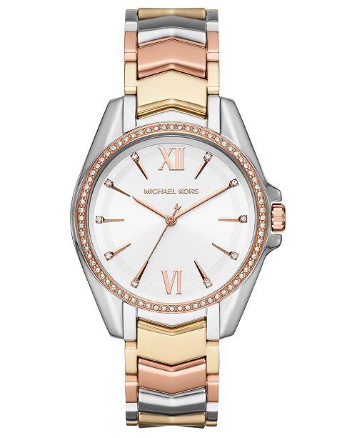 Michael Kors Women's Whitney Tri-Tone Stainless Steel Bracelet Watch 38mm