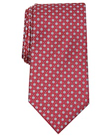 Men's Classic Floral Neat Silk Tie, Created for Macy's