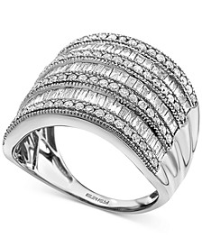 EFFY® Diamond Multi-Row Statement Ring (1-1/2 ct. t.w.) In 14k White Gold, 14K Gold Or 14K Rose Gold