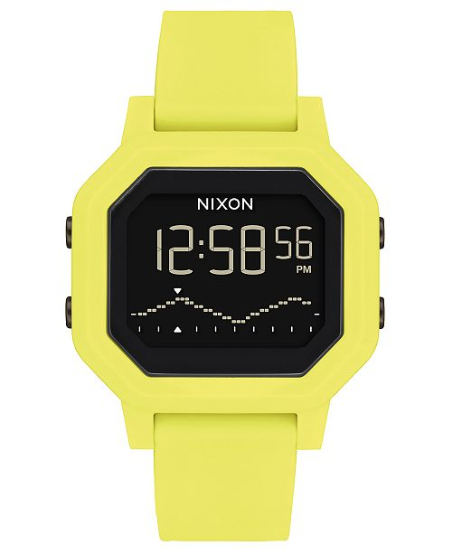 Nixon Unisex Digital Siren Silicone Strap Watch 38mm