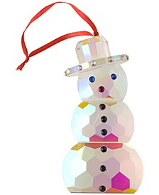 Crystal Gems Iridescent Snowman Ornament