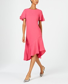 Alfani Ruffled Asymmetrical Dress, Created for Macy's