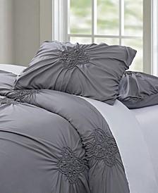 Christian Siriano Georgia Rouched 3 Piece King Comforter Set