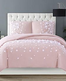 Christian Siriano Confetti Flowers 3 Piece Blush King Comforter Set