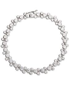 Cubic Zirconia Mickey Mouse Tennis Bracelet in Sterling Silver
