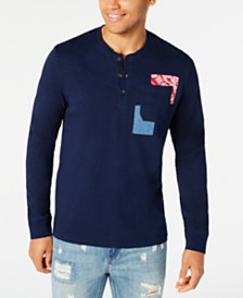 American Rag Men's Patchwork Pocket Henley, Created for Macy's