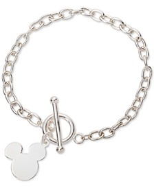 Mickey Mouse Charm Toggle Bracelet in Sterling Silver