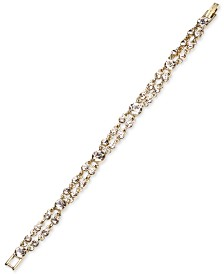 Givenchy Crystal Double-Row Flex Bracelet