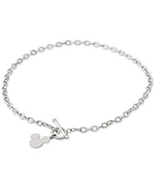 """Mickey Mouse 18"""" Pendant Necklace in Sterling Silver"""