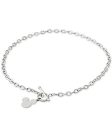 "Disney Mickey Mouse 18"" Pendant Necklace in Sterling Silver"