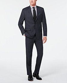 Lauren Ralph Lauren Men's Classic-Fit UltraFlex Stretch Gray/Blue Plaid Suit Separates