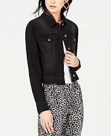 INC Frayed Cropped Denim Jacket, Created for Macy's