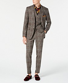 Slim-Fit Plaid Suit