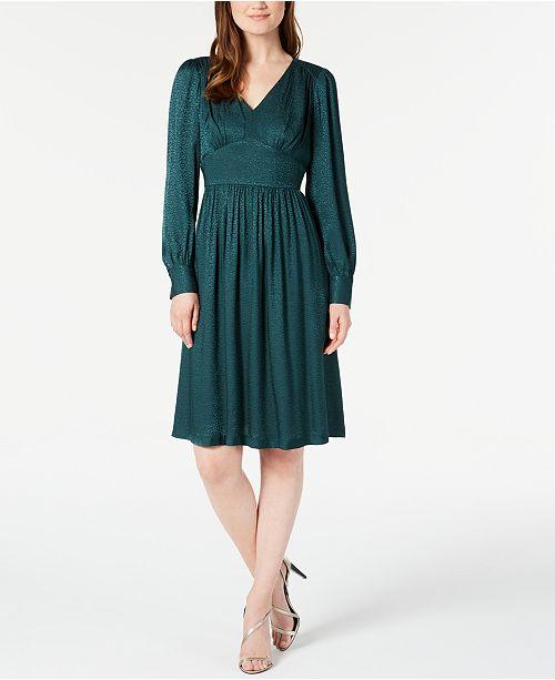 Calvin Klein V-Neck A-Line Dress