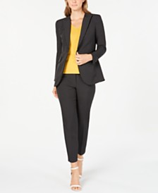 Anne Klein Micro-Dot Jacket, V-Neck Top & Micro-Dot Pants