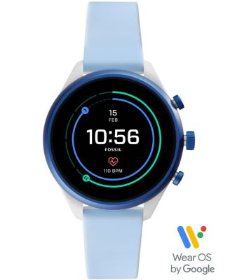 Fossil Sport Smartwatch - 41mm Light Blue Silicone