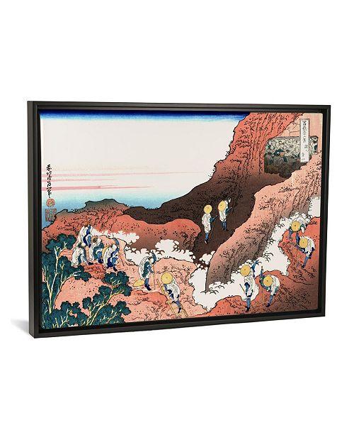 "iCanvas Climbing on Mt. Fuji by Katsushika Hokusai Gallery-Wrapped Canvas Print - 18"" x 26"" x 0.75"""