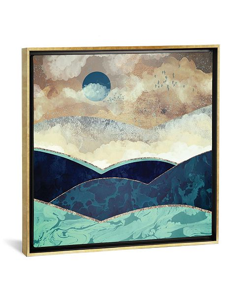 """iCanvas Blue Moon by Spacefrog Designs Gallery-Wrapped Canvas Print - 18"""" x 18"""" x 0.75"""""""