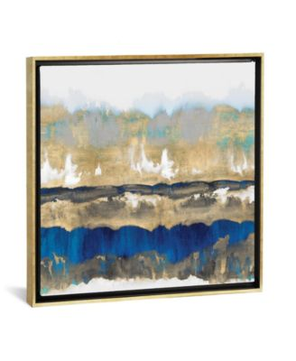 """Gradations in Blue and Gold by Rachel Springer Gallery-Wrapped Canvas Print - 37"""" x 37"""" x 0.75"""""""