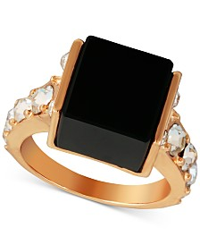 GUESS Gold-Tone Crystal & Stone Statement Ring