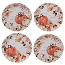 Certified International Harvest Splash Salad Plate, Set of 4