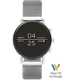 Skagen Falster 2 Stainless Steel Mesh Bracelet Touchscreen Smart Watch 40mm, Powered by Wear OS by Google™