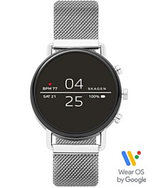 Skagen Falster 2 Stainless Steel Mesh Bracelet Touchscreen Smart Watch 40mm, Powered by Wear OS by Google™
