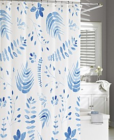Cotton Printed Vine Shower Curtain