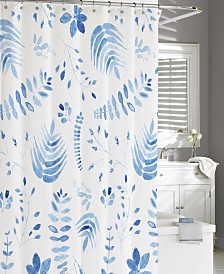 Cassadecor Cotton Printed Vine Shower Curtain
