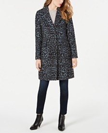 BCBGeneration Leopard-Print Walker Coat