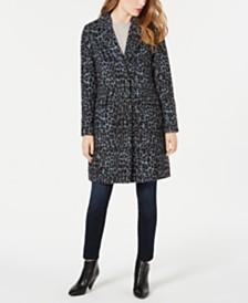 BCBGeneration Leopard-Print Walker Coat