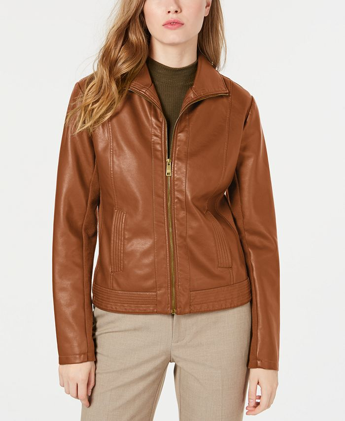 Kenneth Cole - Faux-Leather Jacket