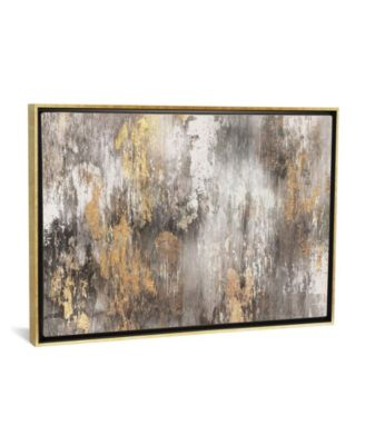 """Gold Ikat by Pi Galerie Gallery-Wrapped Canvas Print - 18"""" x 26"""" x 0.75"""""""