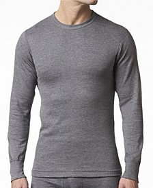 Men's 2 Layer Cotton Blend Thermal Long Sleeve Shirt