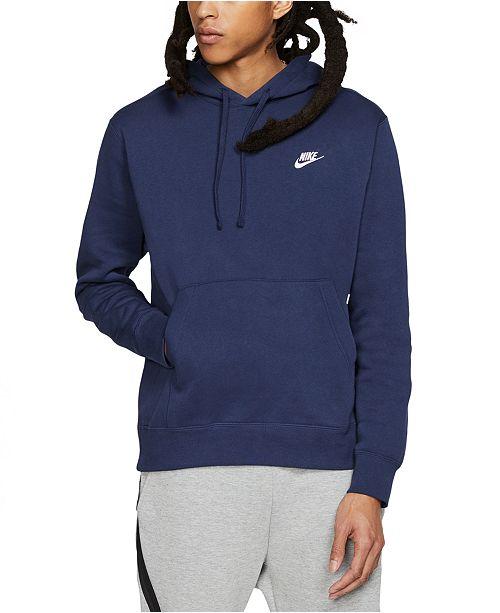 specialförsäljning bra kvalitet stor försäljning Nike Men's Sportswear Club Fleece Pullover Hoodie & Reviews - Hoodies &  Sweatshirts - Men - Macy's