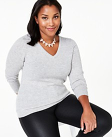 Charter Club Plus Size Cashmere Sweater, Created for Macy's