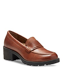 Eastland Women's Newbury Block Heel Loafers