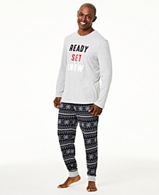 Matching Men's Ready Set Snow Pajama Set, Created For Macy's
