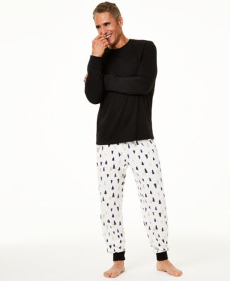 Matching Men's Tree-Print Pajama Set, Created For Macy's