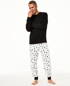 Matching Family Pajamas Men's Tree-Print Pajama Set, Created For Macy's