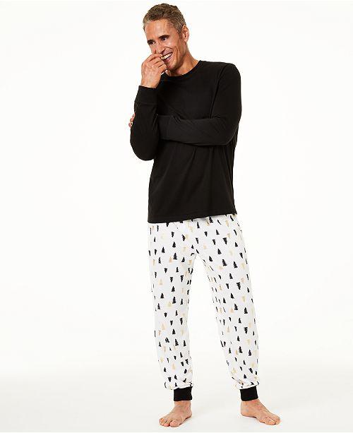 Family Pajamas Matching Men's Tree-Print Pajama Set, Created For Macy's